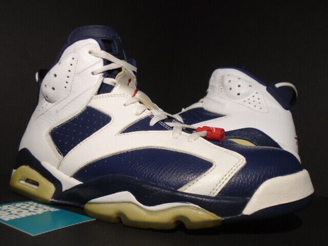 1ab65701885a NIKE AIR JORDAN VI 6 RETRO OLYMPIC WHITE NAVY blueE RED INFRARED 384664-130  12