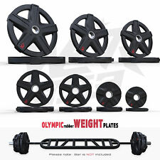 ReXFlex Olympic Rubber Encased Weight Plates Disc Ez Barbell Weights Plate Gym