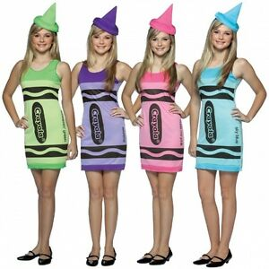 Image is loading Crayon-Tank-Crayola-Retro-Fancy-Dress-Up-Halloween-  sc 1 st  eBay & Crayon Tank Crayola Retro Fancy Dress Up Halloween Teen Child ...