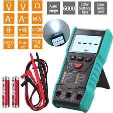 Digital Multimeter Auto Range Ac Dc Ammeter Voltmeter Ohmmeter Tester 6000counts