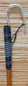 CUSTOM CALCUTTA BAMBOO GAFF 3/0 MUSTAD HOOK -6 FT, BLk & SLVR (R72-6-3/0)