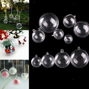 10x-Clear-Plastic-Ball-Baubles-Sphere-Fillable-Christmas-Tree-Ornament-Gift-Box