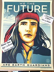 """Shepard Fairey WE THE FUTURE """"EARTH GUARDIANS"""" Litho Art Print Poster Obey Giant"""