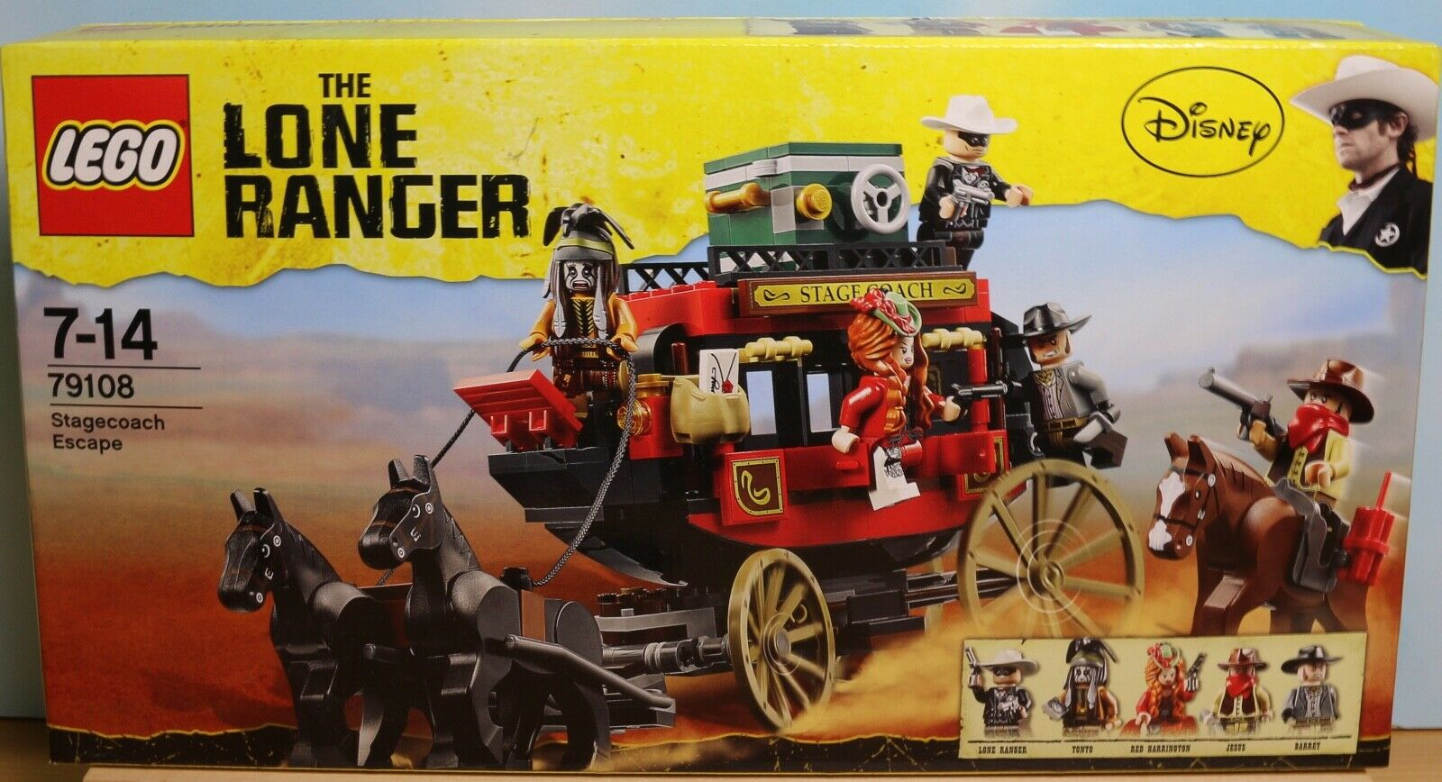 LEGO 79108, The Lone Ranger-fuite par la  voiture, produit neuf non ouvert  pour la vente en gros