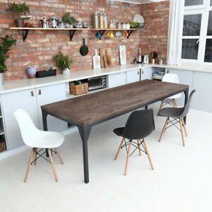 Détails sur Waterloo Herringbone naturel en chêne massif moderne bois table  de salle à manger- afficher le titre d\'origine