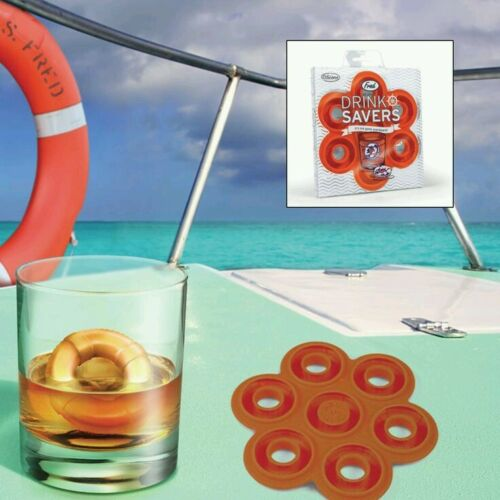 Fred /& Friends Beach Party Drink Savers Silicone Life Ring Ice Cube Mould