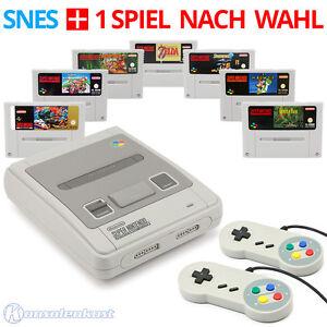 SNES-SUPER-NINTENDO-CONSOLE-2-Controller-giochi-come-Super-Mario-o-Zelda
