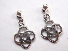 Celtic Infinity Ball Stud Earrings 925 Sterling Silver Corona Sun Jewelry