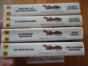 Lote-Manga-Kenshin-el-Vagabond-1-2-3-4-5-6-7-8-Doble-VF