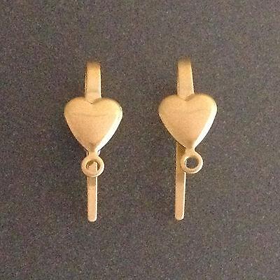 2pcs Gold filled earrings ear hook heart shaped jewellery making findings gold