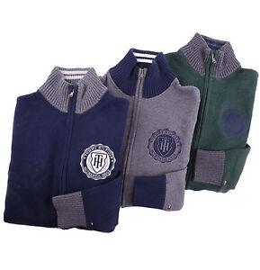 Tommy-Hilfiger-Men-Mock-Neck-Full-Zip-Logo-Solid-Sweater-Jacket-0-Free-Ship