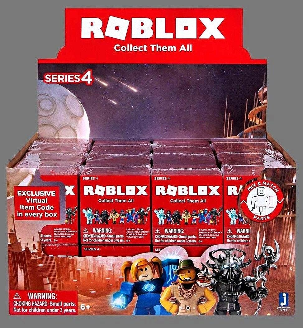 Roblox Series 4, Assorted Mini Mystery Figures, Sealed full Box of 24, Gift