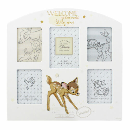 Bambi Magical Beginnings Baby Welcome To The World Arched Collage Frame DI285