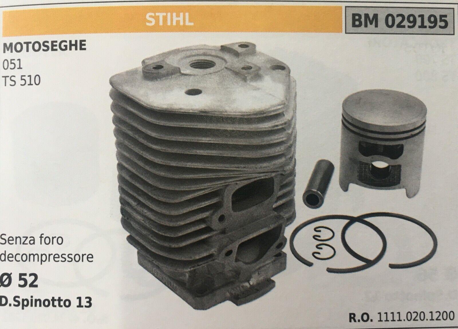 Cilindro Completo por Pistón y Segmentos Brumar BM029195 Stihl