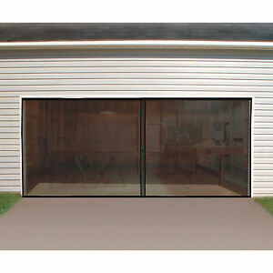 double garage door screen 16ft x 7ft ebay