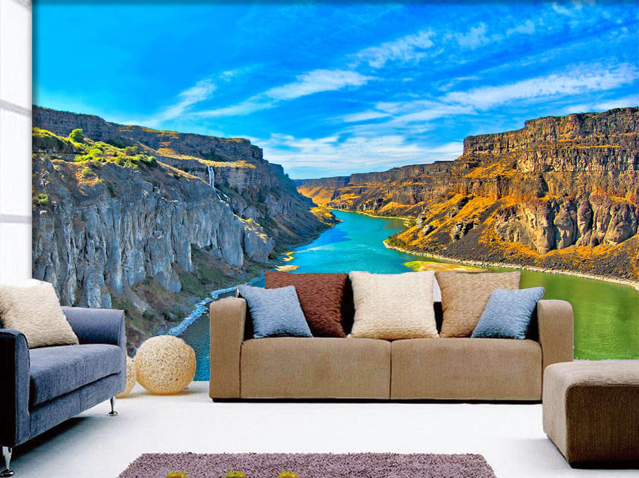 3D River Scenery 809 Wall Paper Wall Print Decal Wall Deco Indoor AJ Wall Paper