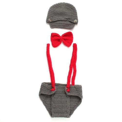 Bébé Garçons Filles Crochet Knit Costume Photo Photographie Props Outfi B5W2
