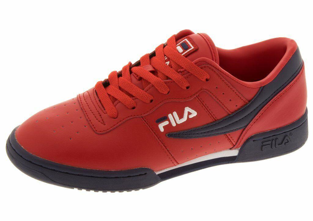 FILA ORIGINAL FITNESS TRAINER SPORTS zapatillas MEN zapatos rojo NAVY Talla 13 NEW