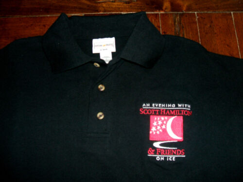 An Evening With Scott Hamilton & Friends On Ice Embroidered L Polo Shirt Skating