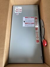 Dt361ugk Eaton Double Throw Safety Switch 3 Pole 600v 30amp Indoor New