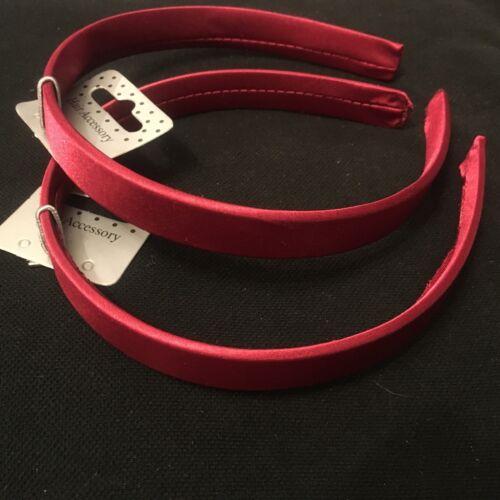 Pack 2 school coloured hair alice band fabric headband 1.3cm hairband school