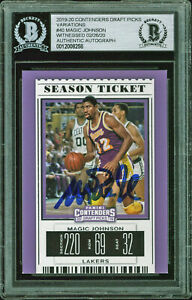 Lakers-Magic-Johnson-Signed-2019-Panini-Contenders-Variations-40-Card-BAS-Slab