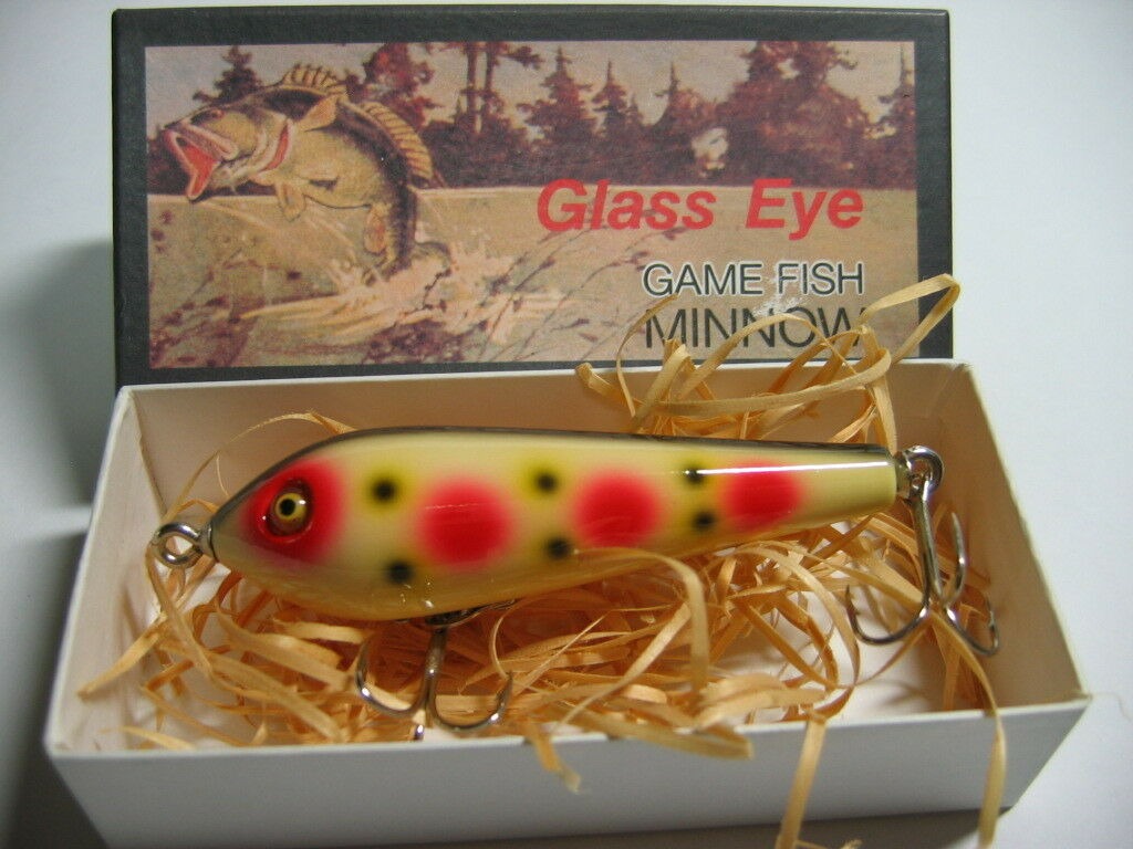29310) Glass Eye BASARA PENCIL BAIT Wood Lure White Spot(WS)