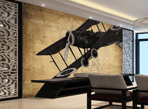 3D Airplane 559 Wallpaper Murals Wall Print Wallpaper Mural AJ WALL AU Kyra