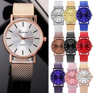 Women-Watch-Mesh-Band-Stainless-Stell-Quartz-Analog-Dress-Ladies-Wrist-watch