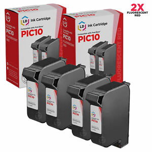 LD-Remanufactured-FP-PostBase-PIC10-Fluorescent-Red-Ink-Cartridges-4-Pack