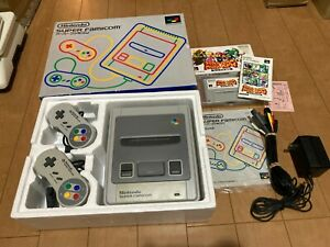 SNES-Super-Famicom-Japan-Edition-Gray-Console-with-BOX-and-Manual
