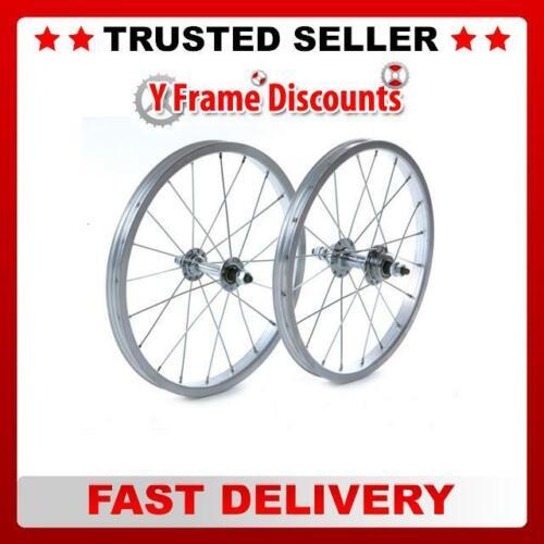 """16 inch Silver single speed Tru-build Wheels 16 x 1.75/"""" Junior rear wheel"""