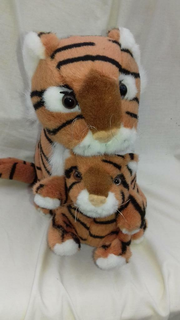 Lovely Tiger and Baby 30cm Sitting Position Soft Toy 30cm Baby YY d3c92d