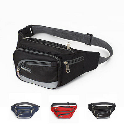 New Men Women Waist Pack Purse Sport Bum Belt Bag Cycling Travel Pouch Fanny Bag