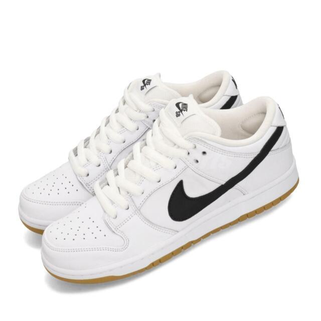 separation shoes a82be 64c3a Nike SB Dunk Low Pro ISO Orange Label White Black Skateboarding Shoes  CD2563-100