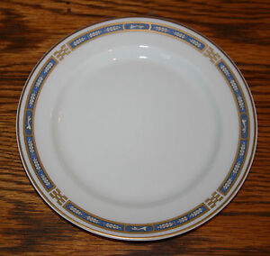 Syracuse China O P Co Mystic 6 1 4 Bread Plate Blue Cobalt With
