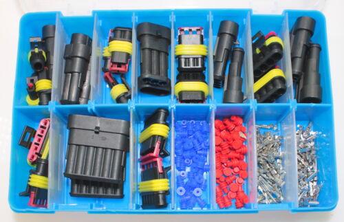 Amp supersael conector Service maleta surtido recuadro los conectores o enchufes set box