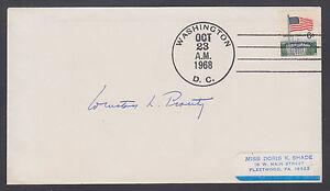 Winston L. Prouty, US Senator & Congressman from Vermont, signed 1968 cover