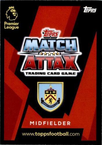 Match Attax 18//19 Johann Berg Gudmundsson Burnley tarjeta base Nº 65
