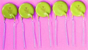 5-x-Vishay-10nF-Ceramic-1-Layer-Capacitor-Y5U-Dielectric-440VAC-X1-300VAC-Y1