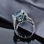 18ct-White-Gold-Magnificent-Natural-Aquamarine-and-Diamonds-Cocktail-Ring-VVS thumbnail 3