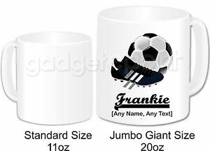 Personalised-Gift-Football-Mug-Cup-Jumbo-20oz-Boots-Sport-Referee-Training-Coach