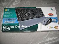 Logitech Cordless Desktop S520 Spanish Keyboard Laser Mouse Computer
