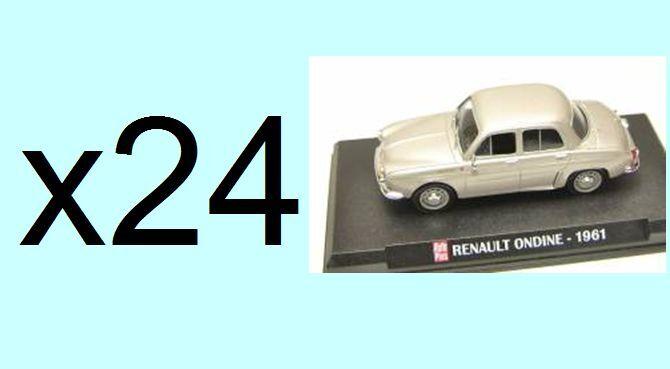 Lot of 24 units RENAULT DAUPHINE ONDINE  Ixo collectible CAR AUTO