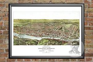 Old-Map-of-Philadelphia-PA-from-1907-Vintage-Pennsylvania-Art-Historic-Decor