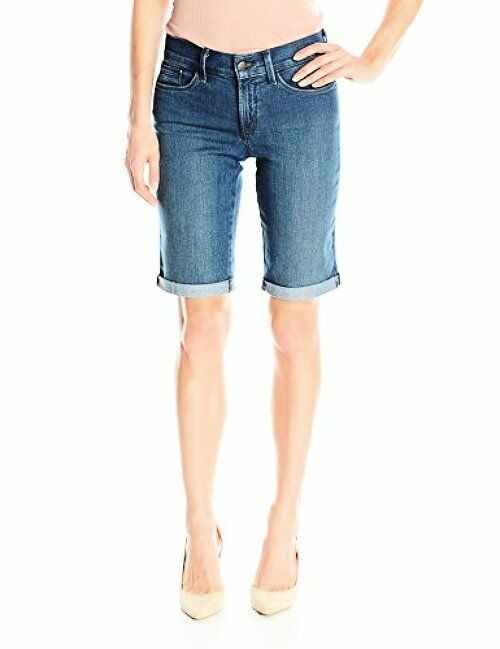 NYDJ Womens Collection M10Z164 Briella Roll Cuff Jean Short- Choose SZ color.