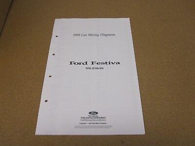 1993 93 Ford Festiva wiring diagram schematics SHEET service shop manual |  eBay | 93 Ford Festiva Wiring Diagram |  | eBay