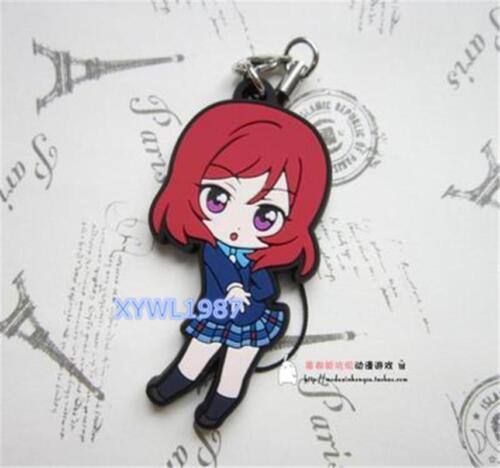 Love Live Super Cute Rubber Keychain Strap Phone Charm Uniform Ver 1pc Gift New