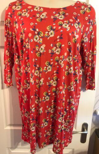 Femmes EX CHAINSTORE Rouge Imprimé Floral Haut Tunique 16 18 22//24 NEUF *