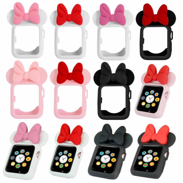quality design 568d5 828df For Apple Watch Cover iWatch Protective Case Mickey Minnie Mouse Ears  38-44mm
